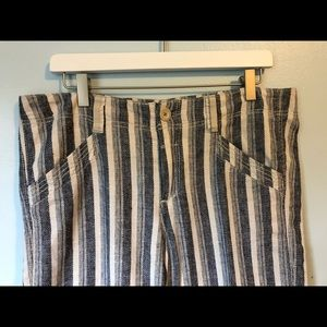 Anthropologie Striped Linen Pants by Pilcro